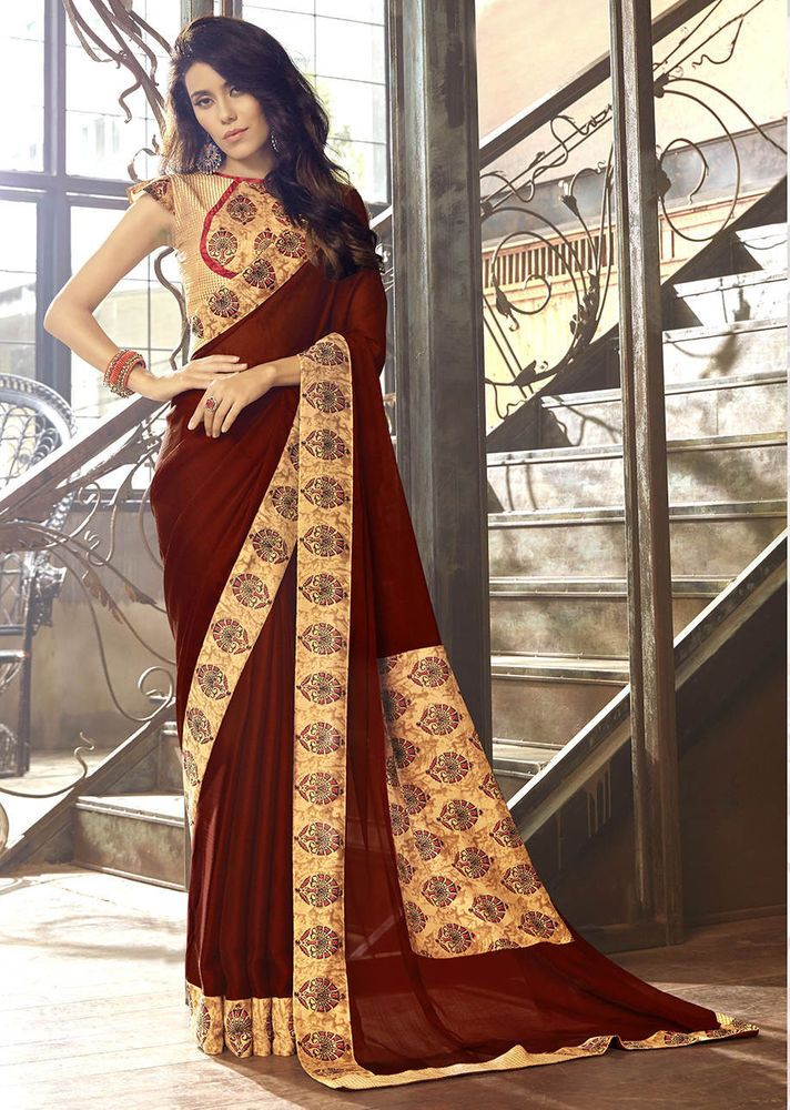 New Designer Indian Bollywood Party Wear Saree Pakistani Wedding Ethnic Sari F3 Clothing, Shoes & Accessories Women's Clothing