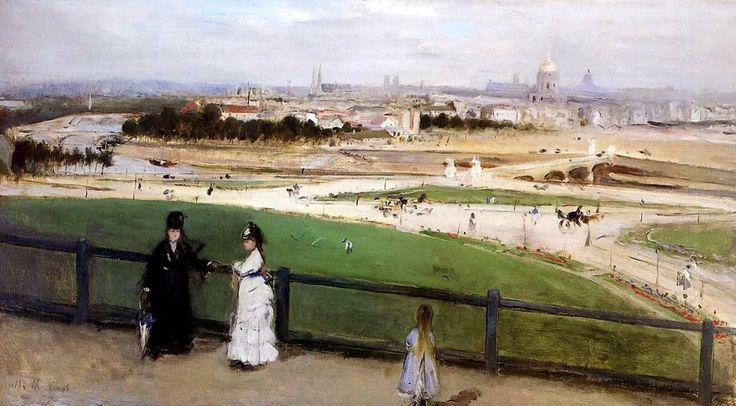 Берта Моризо. Вид Парижа с холма Трокадеро