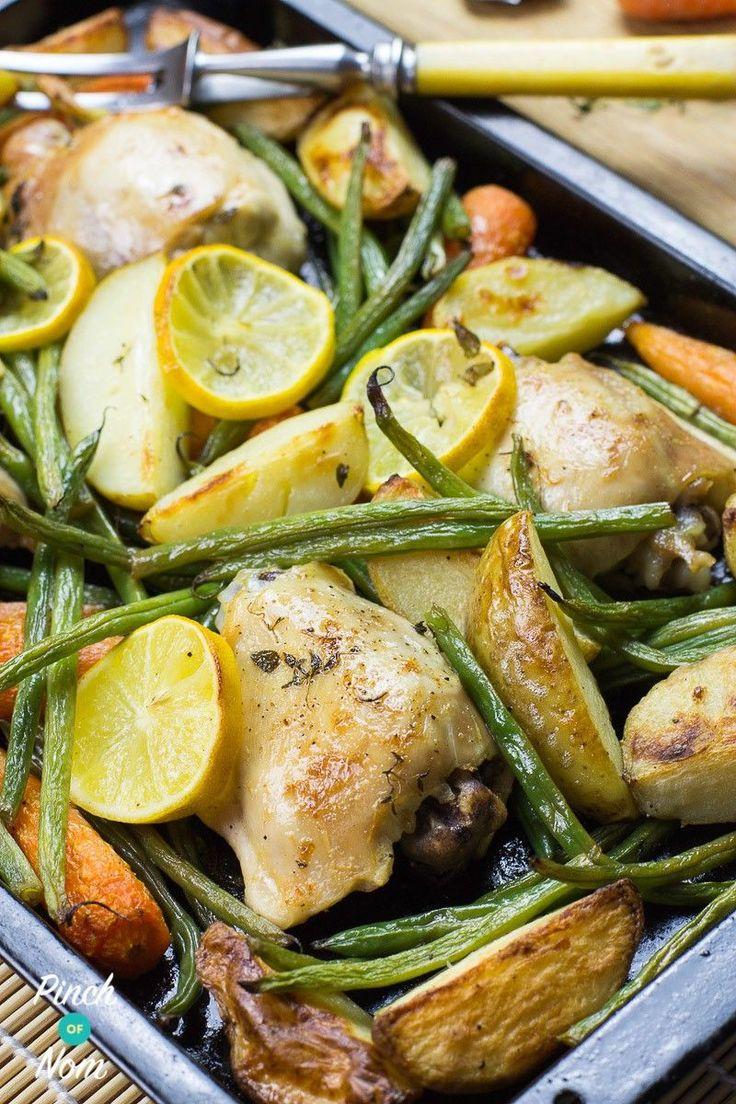 Syn Free Lemon and Garlic Chicken Tray Bake