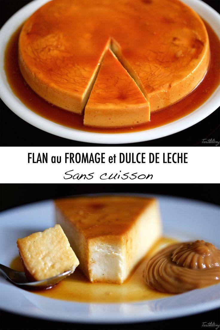 Flan au fromage et dulce de leche sans cuisson (sans gluten ni oeufs) | Cuisine en Scène, le blog cuisine de Lucie Barthélémy - CotéMaison.fr