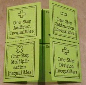 Solving & Graphing One-Step Inequalities (Foldable) - Lisa Davenport - TeachersPayTeachers.com