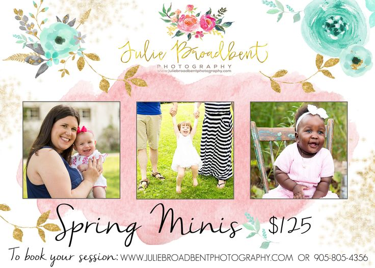 Now booking spring mini photo sessions! $125.00 Halton Hills, Ontario  905-805-4356 www.juliebroadbentphotography.com