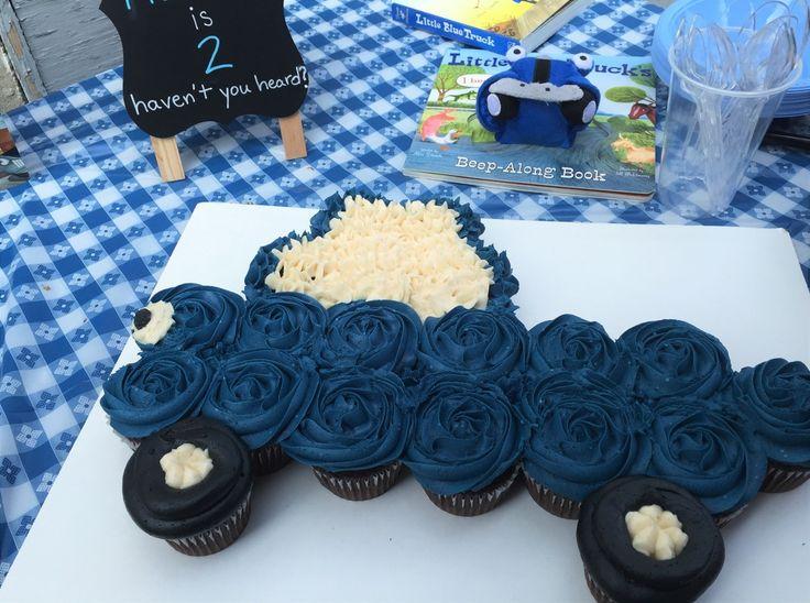 Little Blue Truck cupcake arrangement
