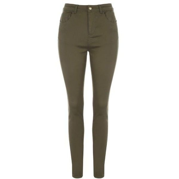 Womens Khaki Pocket Jeans ($21) ❤ liked on Polyvore featuring jeans, super skinny jeans, brown skinny jeans, pocket jeans, mid-rise jeans and khaki skinny jeans