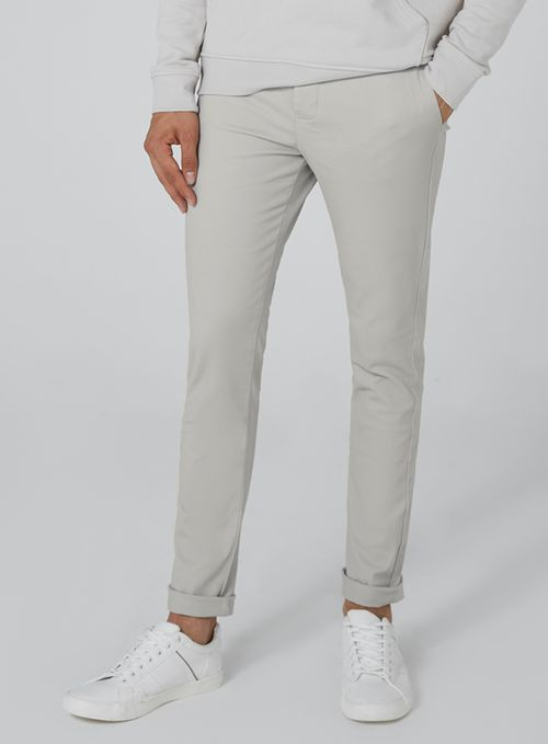 Light Gray Stretch Skinny Chinos - Chinos - Clothing - TOPMAN USA
