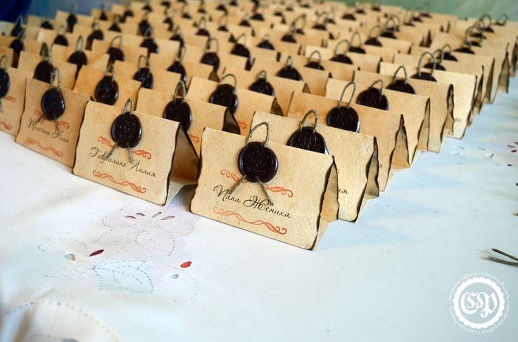 Карточки с именами гостей на свадебный стол своими руками - Сайт Светланы Ридзель