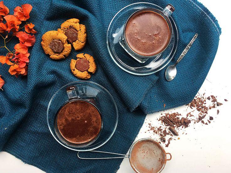 Maca Powder Hot Chocolate  #recipe #veganrecipe #healthyrecipe