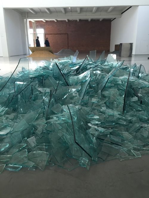 "Robert Smithson ""Map of Broken Glass"" (1969)"