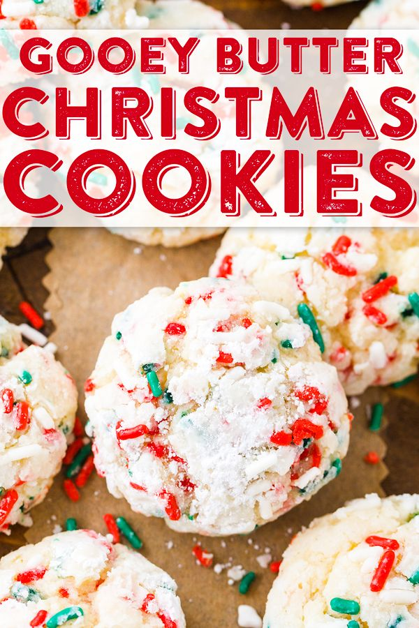 Christmas Gooey Butter Cookies Recipe Gooey Butter Cookies Holiday