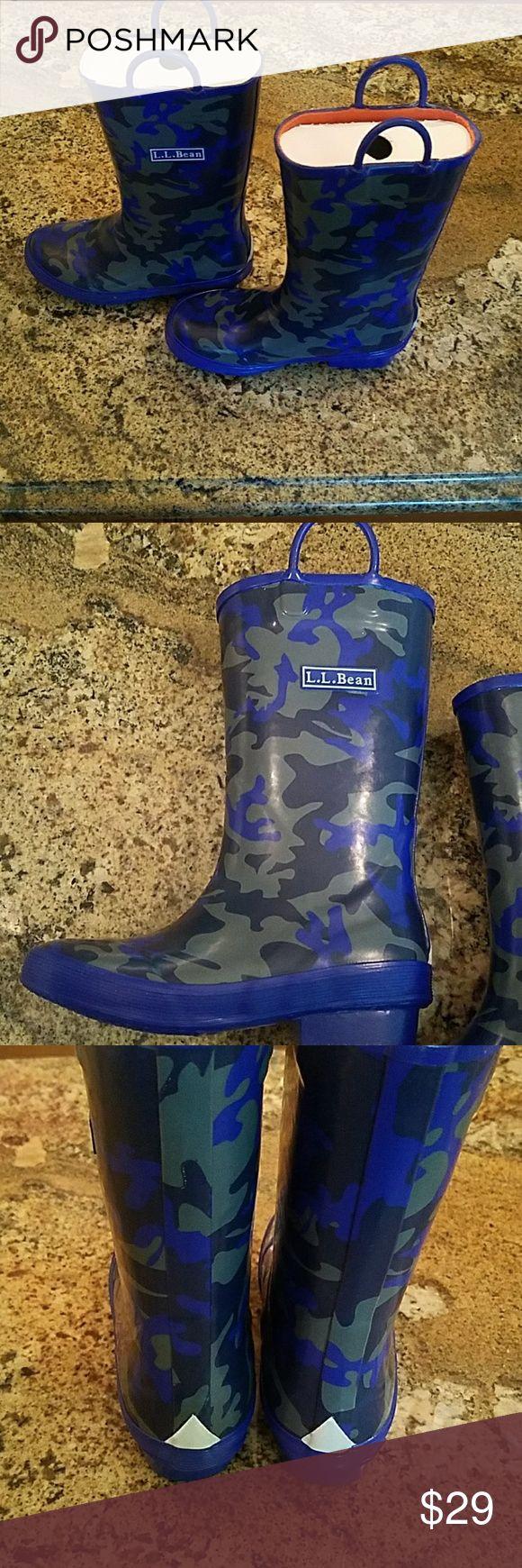 Boys LL bean camo rain boots LL camo size 13 toddler rain boots 'LL bean Shoes