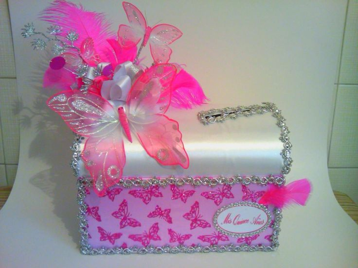 Buz n de regalos y tarjeton para 15 a os o boda se reali for Decorar baul infantil