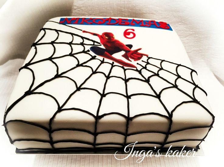Spiderman sjokoladekake