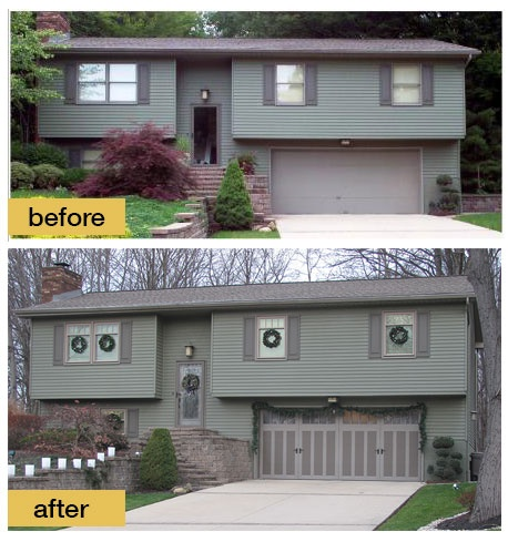 Level remodels on pinterest construction design porticos and garage