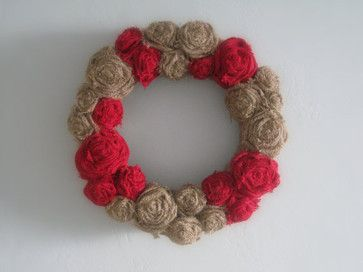 Burlap Wreath by The Walnut Street House - eclectic - artwork - Etsy