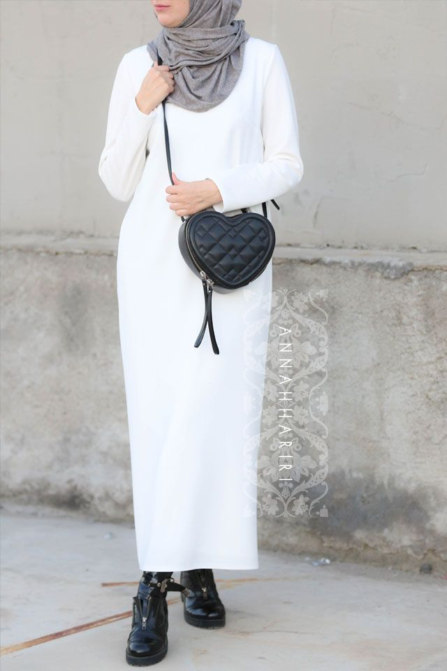 White pencil dress - modest islamic wear www.annahariri.com