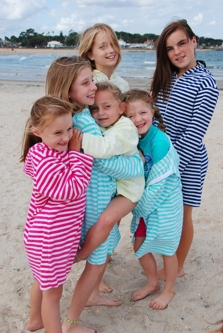 EJ Girl- Hooded Towelling Swim/Beach Robe Range  www.ejkid.com.au