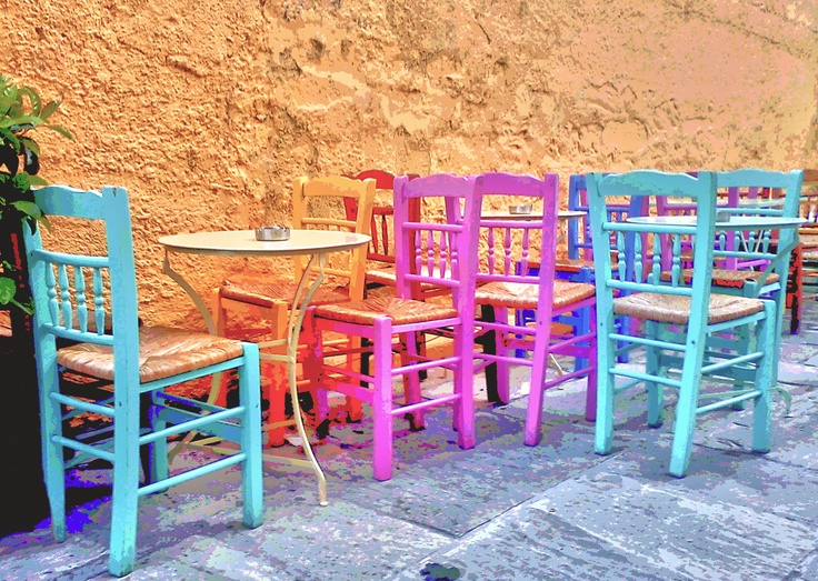 Little coffee shop in Plaka,  the old historical neighborhood of Athens-Greece