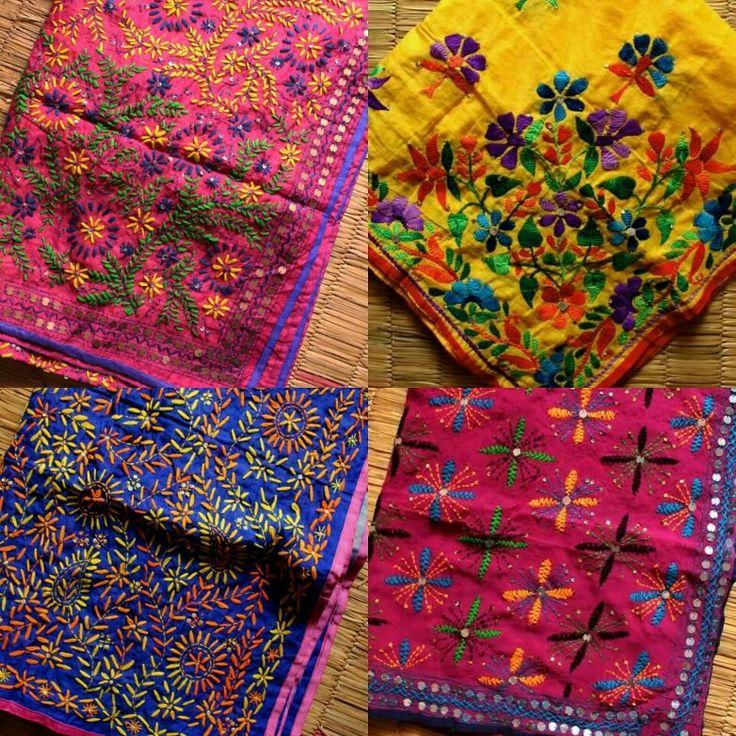 Phulkari dupatta.  #Phulkari #fulkari #Punjabi #dupatta #embroidery