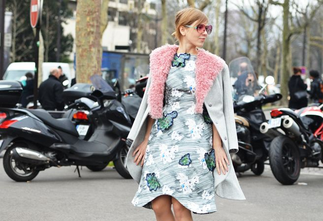 Coat-pink fur