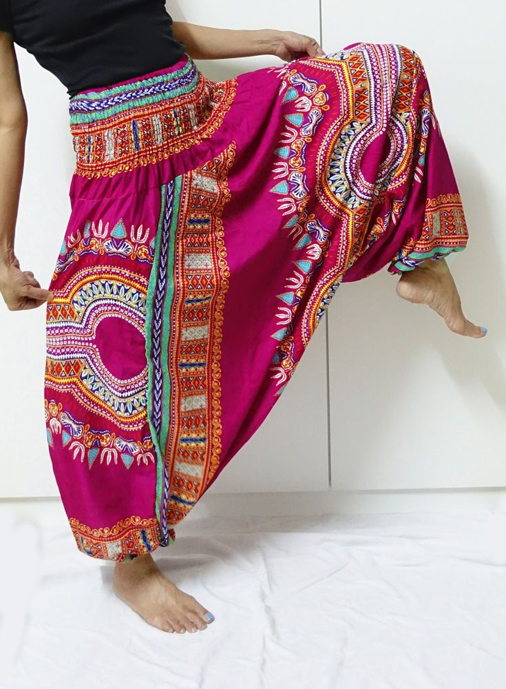 HIPPIE BOHO dashiki aladdin harem jumpsuit yoga thai fisherman pants trousers PI #Unbranded #CasualPants