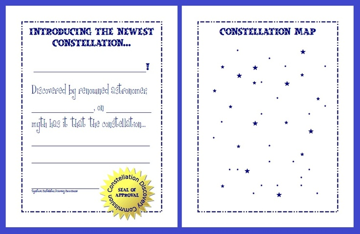 Quot New Constellation Quot Fun Worksheet Free Download