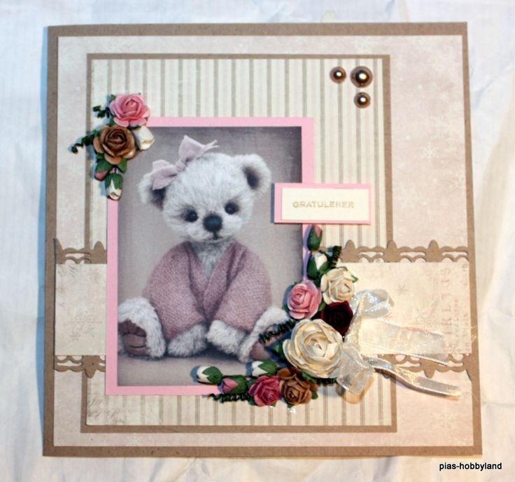 kort for babyjente card for babygirl gratulerer kort