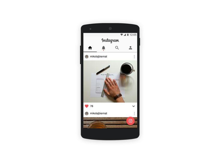 Instagram material design concept