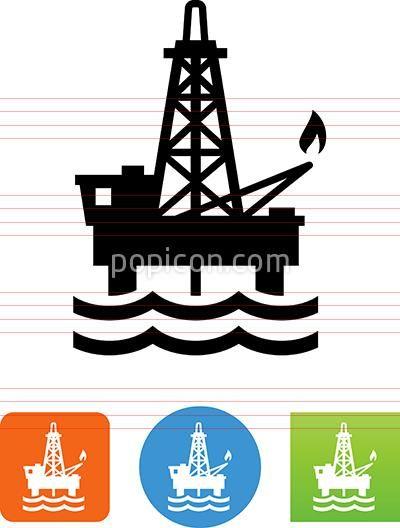 Oil Rig Icon Oil Rig Icon Oil Platform