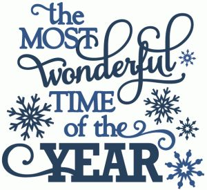 Silhouette Design Store - View Design #51136: most wonderful time of the year - vinyl phrase