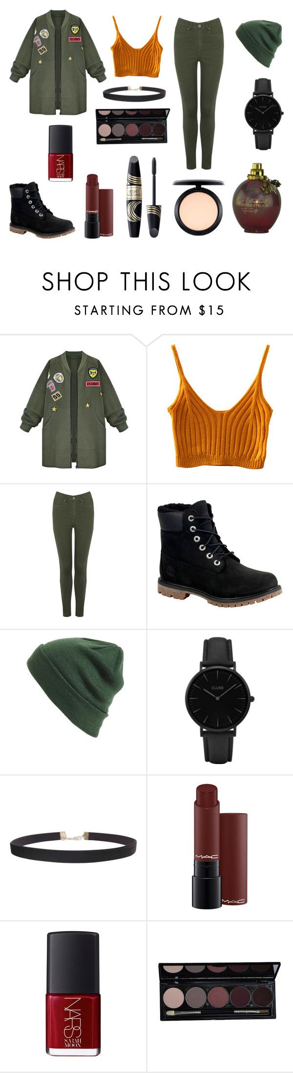 прогулка by reduska on Polyvore featuring мода, WithChic, Oasis, Timberland, CLUSE, Humble Chic, BP., MAC Cosmetics, NARS Cosmetics and Max Factor