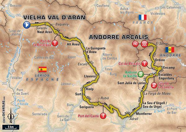 Étape 9 - Vielha Val d'Aran > Andorre Arcalis - Tour de France 2016