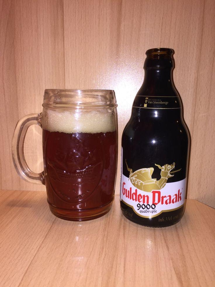 Gulden Draak 9000 Quadruple:  Day 222: Gulden Draak 9000 Quadruple from Brouwerij Van Steenberge. Style of beer is 'Belgian Specialty Ale'. ABV is 10.5%.   Read more at http://www.beerinfinity.com/beer-of-the-day-gulden-draak-9000-quadruple/.