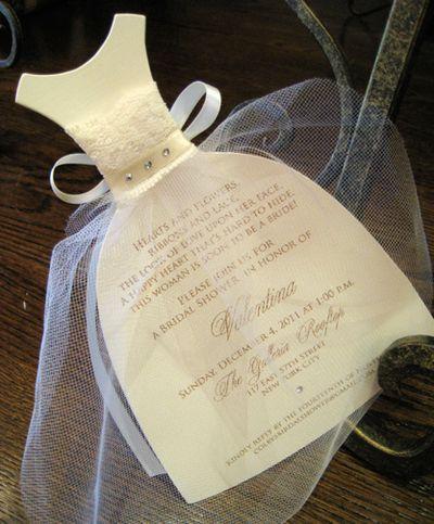 Wedding Shower Wedding Dress Invite