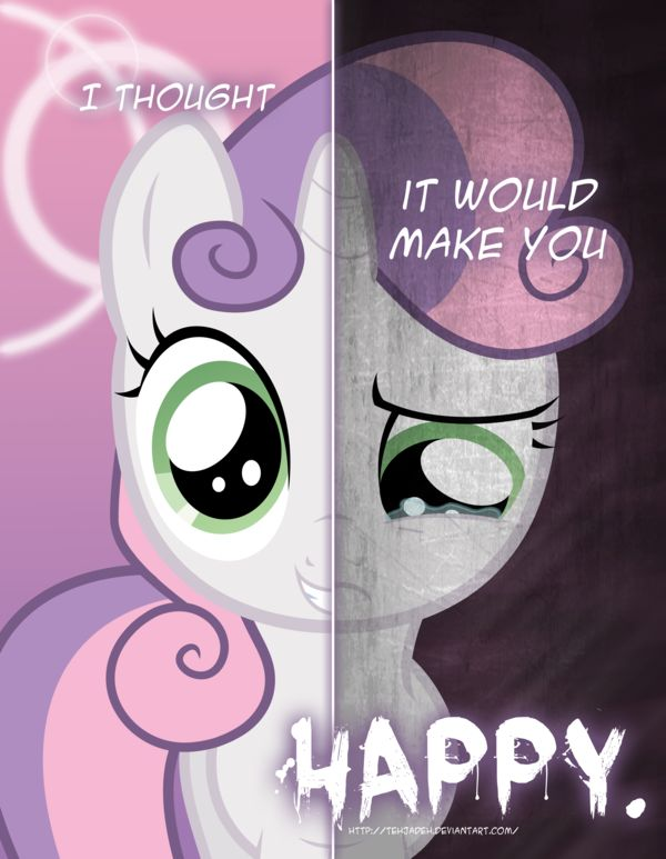 MLP - Two Sides of Sweetie Belle by *TehJadeh on deviantART