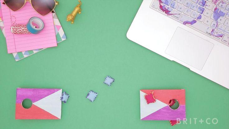 How to DIY Table Top Cornhole
