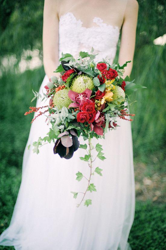 Australian Valentines Day Inspiration Bouquet WeddingRed