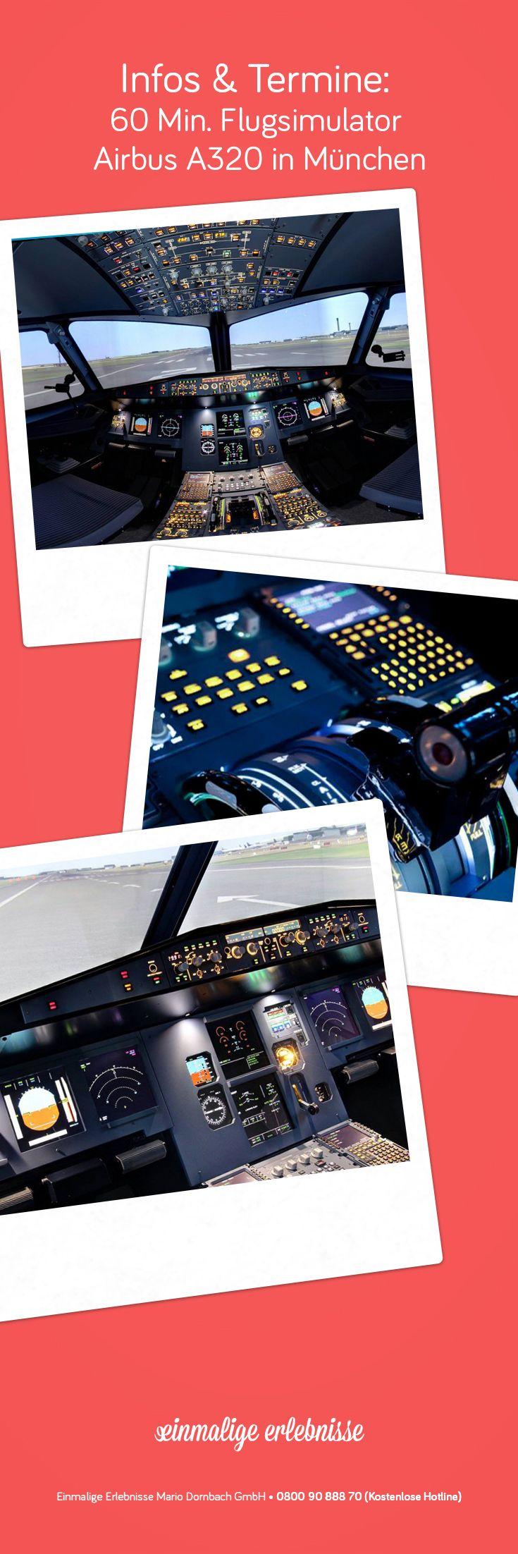 60 Min. Flugsimulator Airbus A320 in München #Flugzeug #Luftfahrt #Geschenk