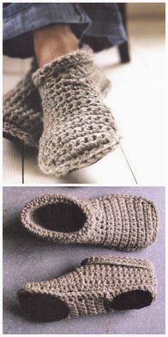 Handmade Crocheted #Slippers #knit