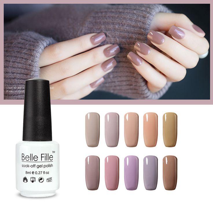 UV nail gel polish nagellack lacquer varnish nail art Chocolate Nude Color fingernail polish bridal makeup vernis semi permanent