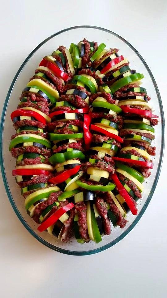 Maldom-kött och grönsaksgratäng