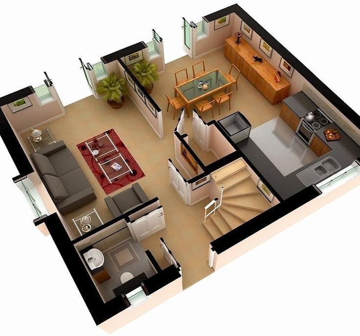 Amazing 3d Floor Plans For You Engineering Basic Mansion Floor Plan House Design Small House Design Plans