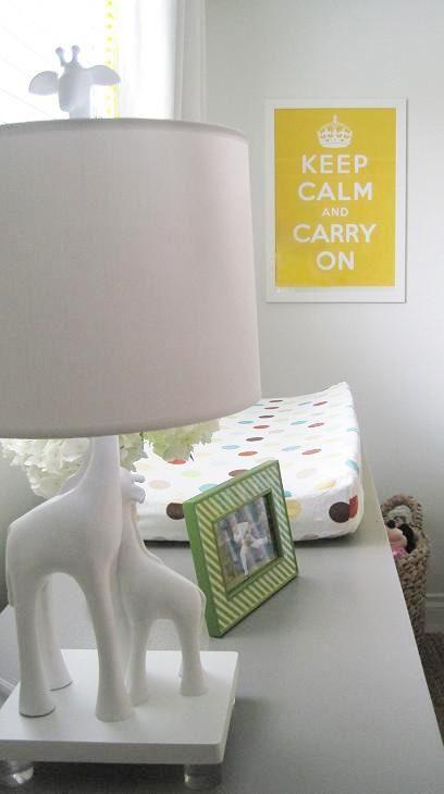 Suzie: Elizabeth Sullivan Design - Adorable gender neutral nursery with yellow keep calm & ...