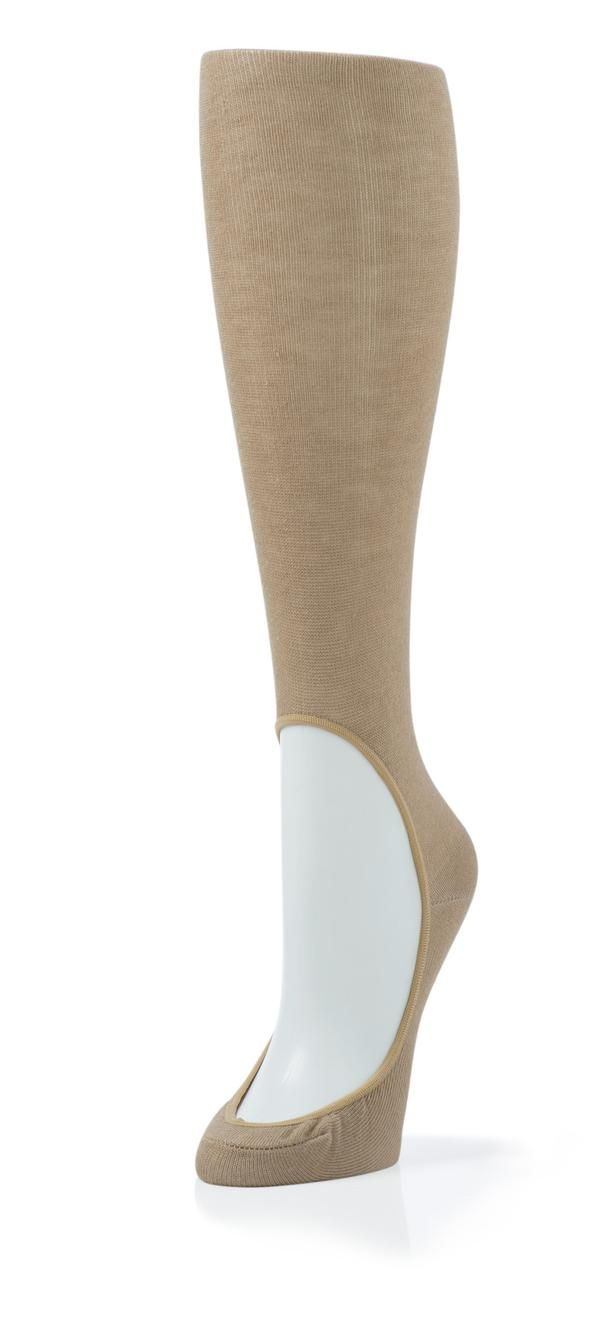 Wear these knee high no show nude socks for women with your favorite flats or heels that won't fall off like traditional footies do. Perfect for warmer weather.