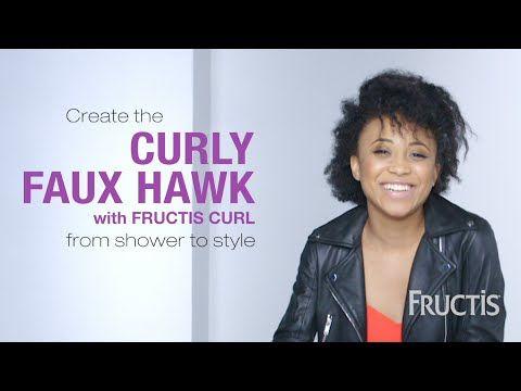 Curly Faux Hawk Hairstyle Tutorial with Morgan Brown - Garnier