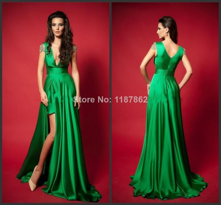 ED-0265 Emerald Green Dress Long Evening Dress Fashion New 2014 Beach Formal Dresses  @Ashley Rodriguez