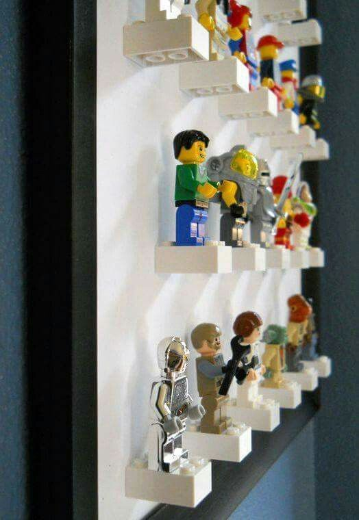 Great way to store and display the little Lego people!