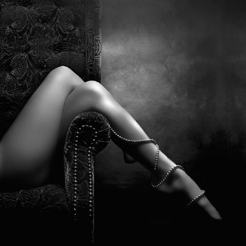 So sensual.: Sexy, Pearls, Boudoir, Art, White, Legs, Black, Photography