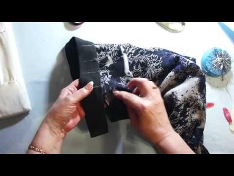 Как пришить резинку по талии - YouTube
