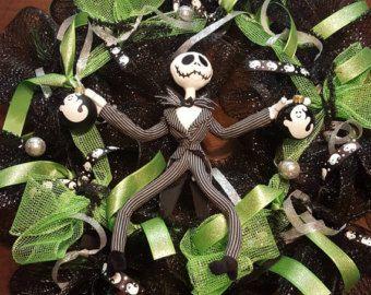 Jack Skellington Wreath by SavvysDesignShop on Etsy