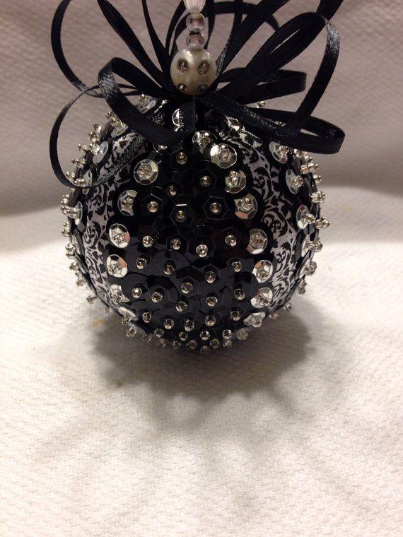 Beaded Christmas Balls